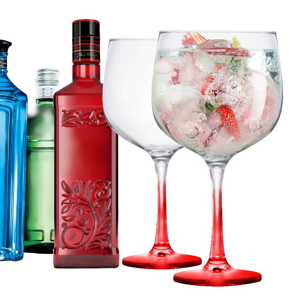 2 Taças Gin de Vidro 650ml Ideal Beefeater Tanqueray Bombay