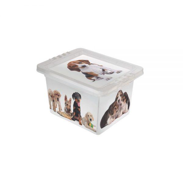 Caixa Organizadora com Tampa Mini Cães 2.3 Litros