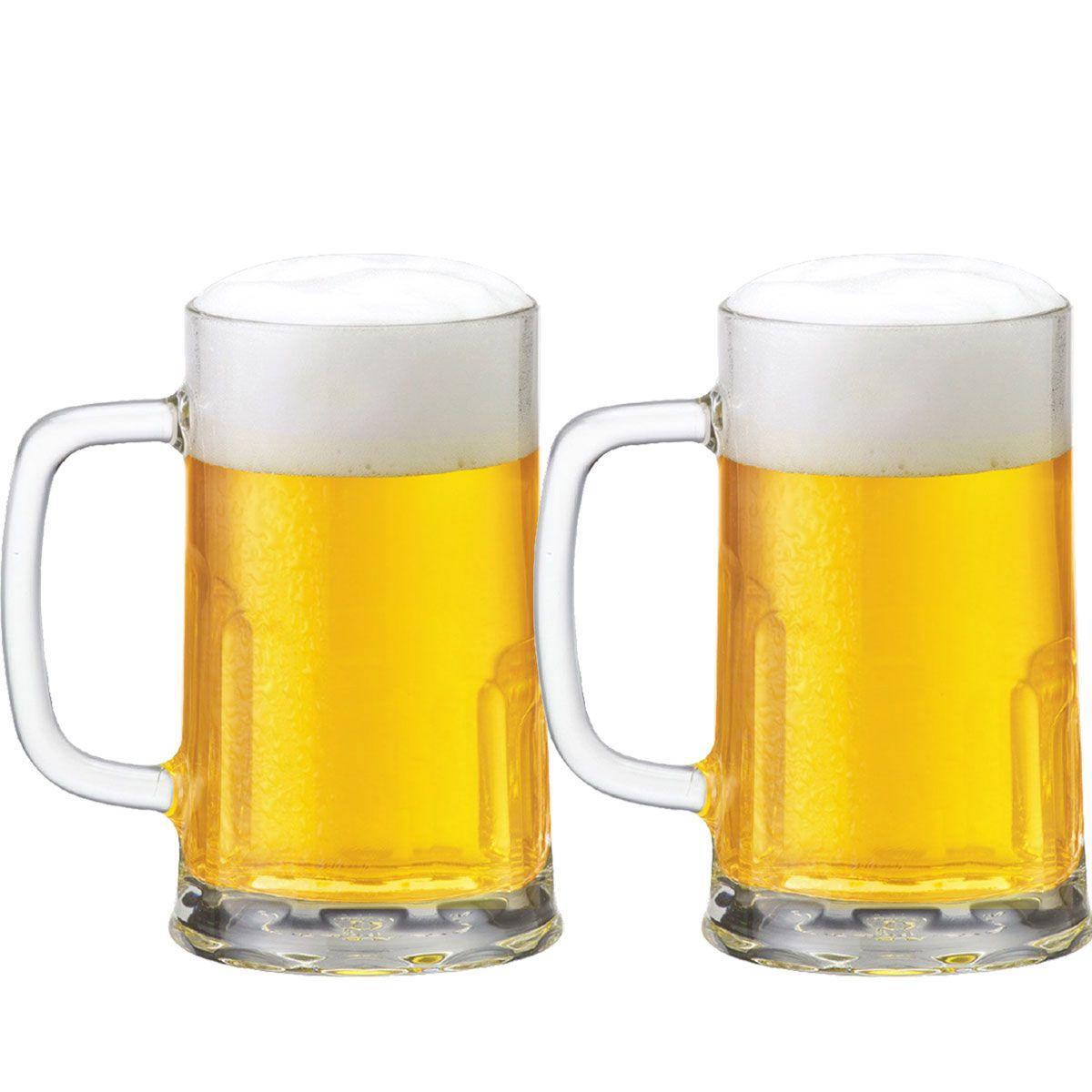 Caneca Chopp Cerveja Copo Cerveja Tudor G 500ml Jogo 2 Pcs