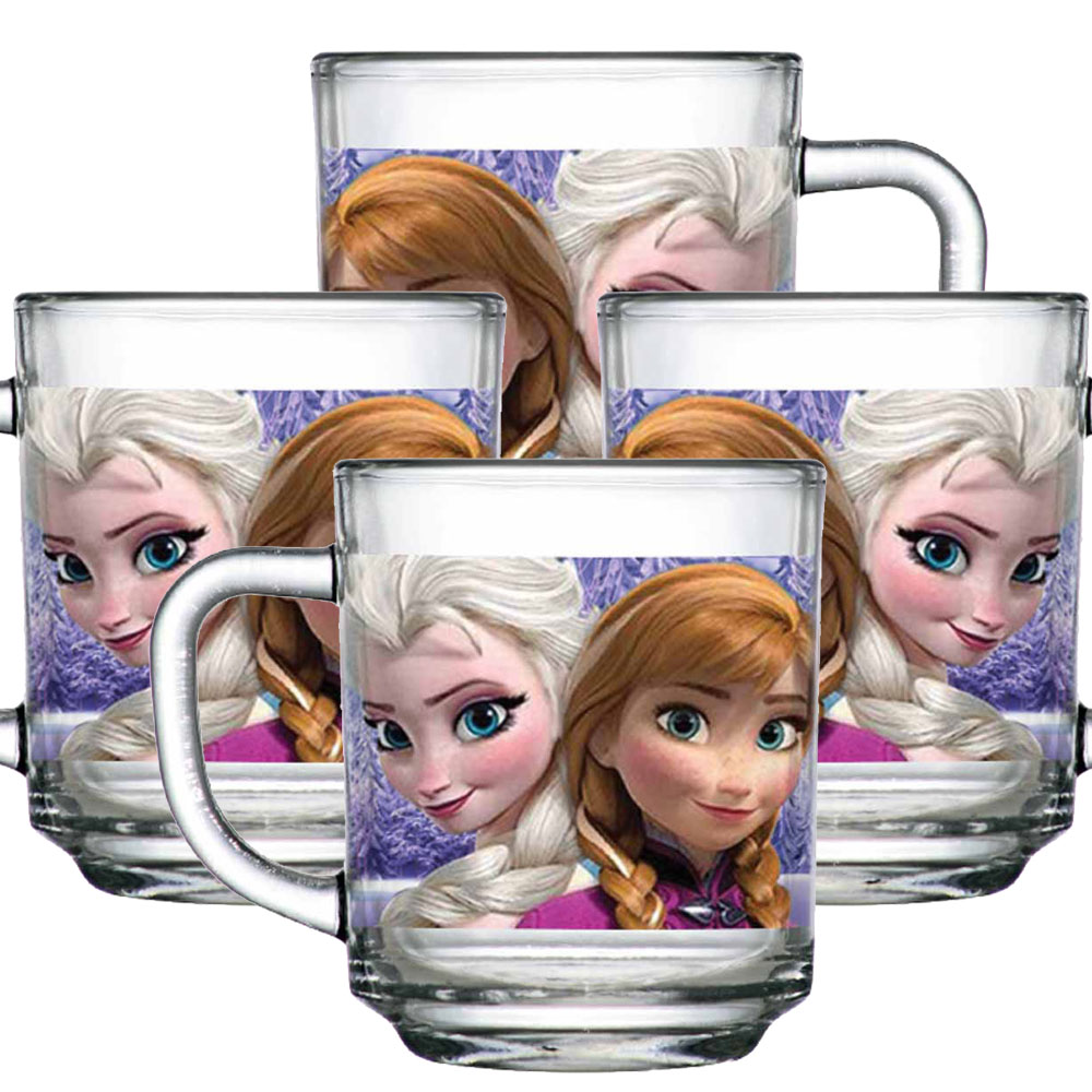 Caneca Anna e Olaf Frozen Disney 300ml QE Ruvolo 4Pcs