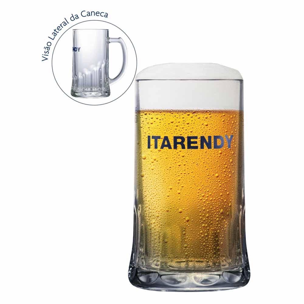 Caneca de Chopp Cerveja Rótulo Frases Itarendy Vidro 650ml
