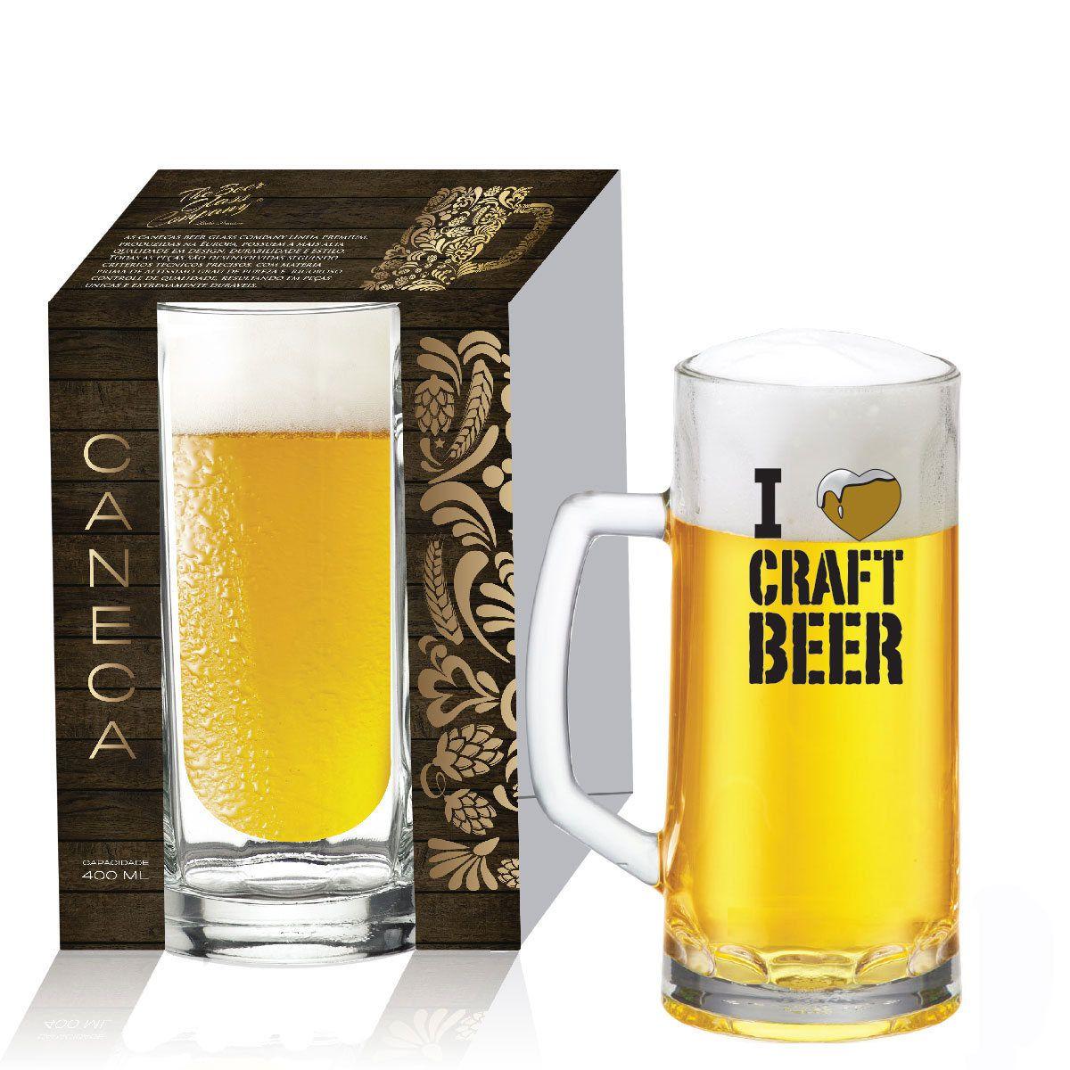 Caneca de Chopp Cerveja Vidro 400Ml Berna Canelada 01 pç QE