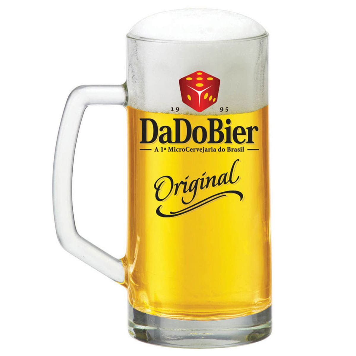 Caneca de Chopp de Vidro ou Cerveja Dado Bier Original 300ml