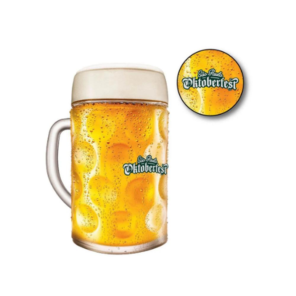 Caneca de Chopp de Vidro ou Cerveja Oficial Oktoberfest SP 1 Litro