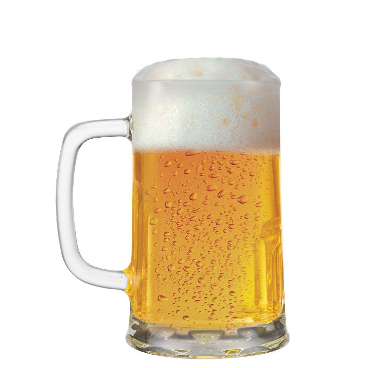 Caneca de Chopp de Vidro ou Cerveja Tudor G 680ml