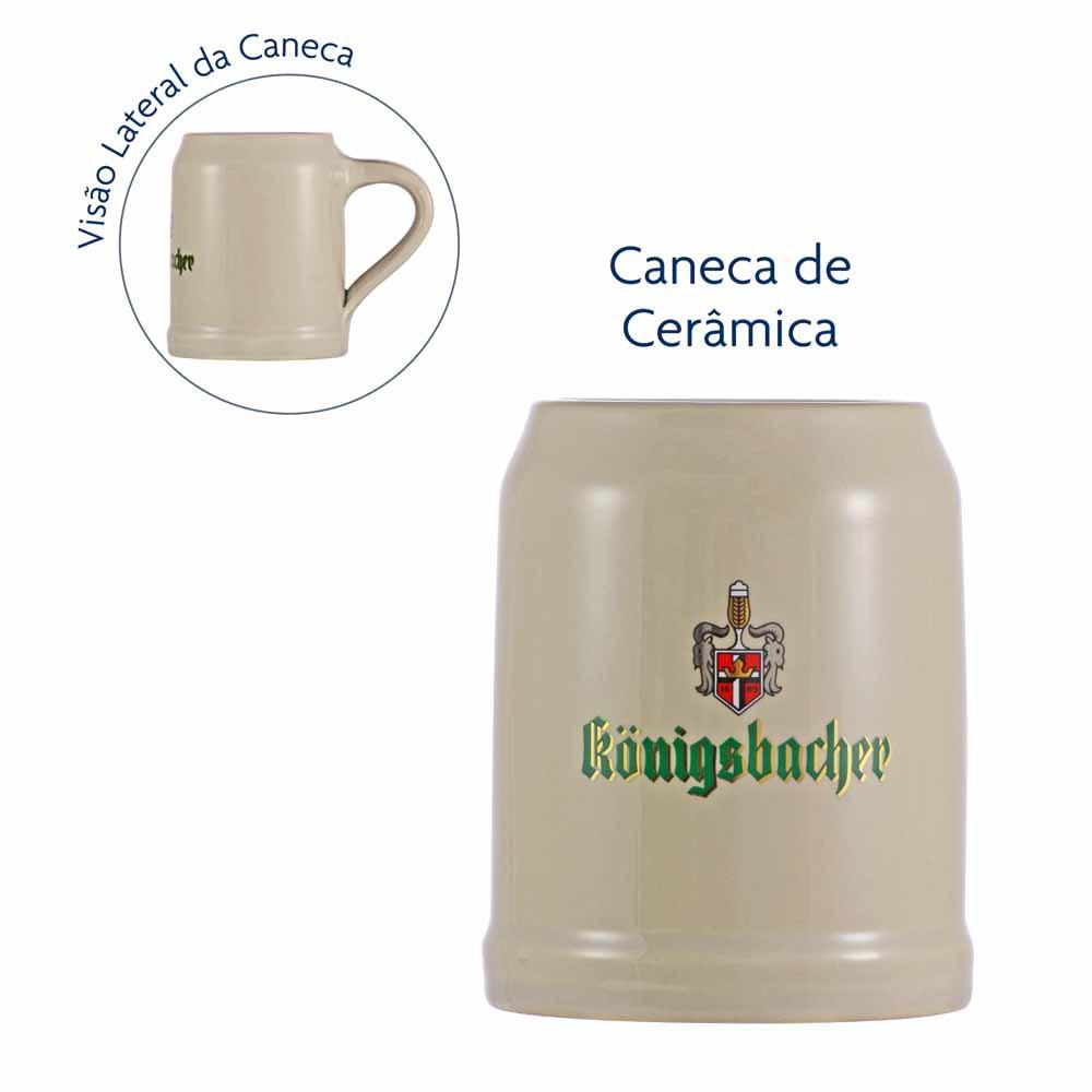 Caneca de Chopp Rótulo Frases Ceramic Konigs Vidro 560ml
