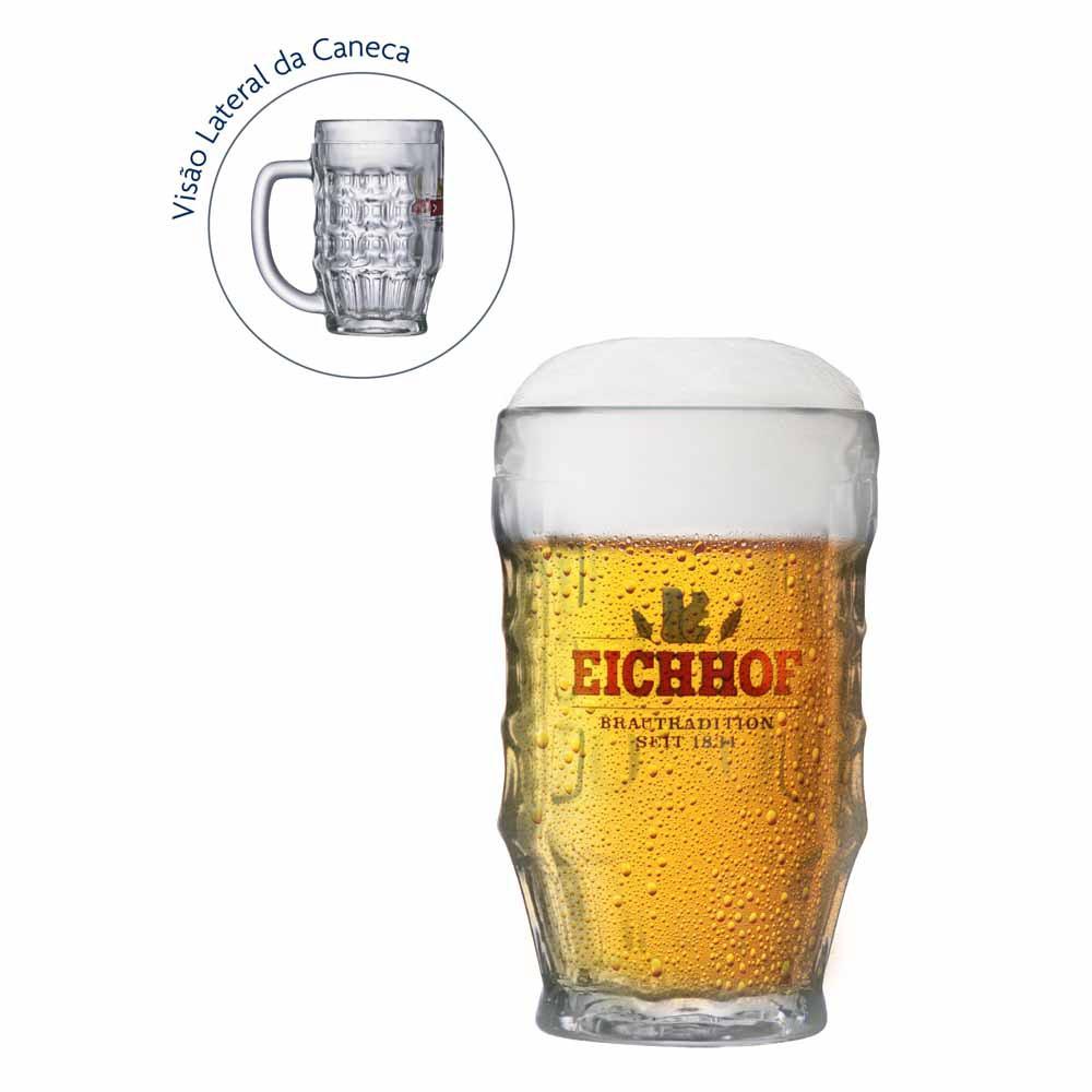 Caneca de Chopp Rótulo Frases Eichhof Vidro 360ml