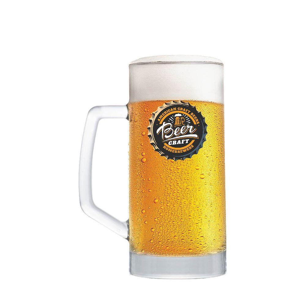 Caneca de Chopp Rótulos Frases Beer Coll. Craft Berna 500ml