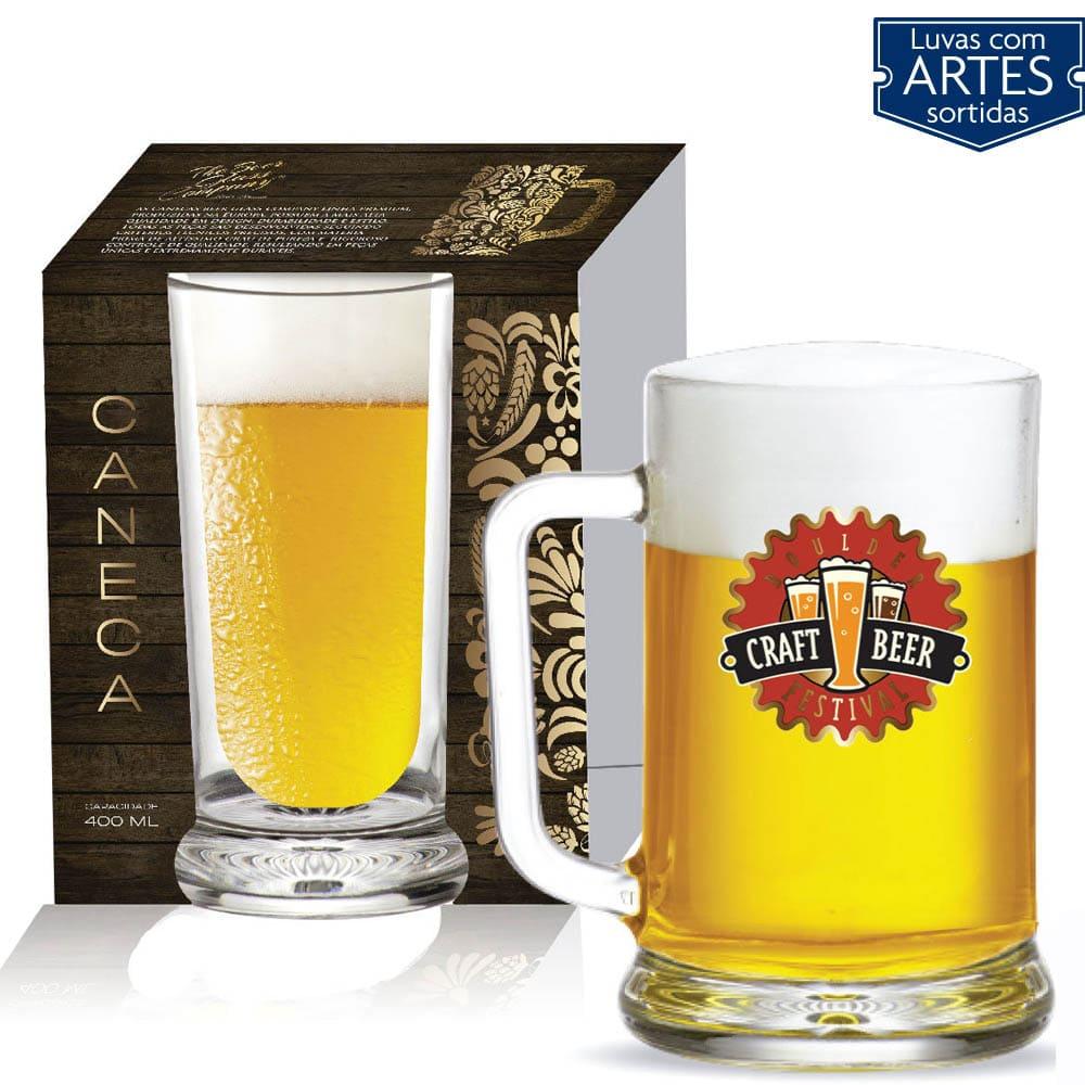 Caneca de Vidro para Cerveja Chopp Star de 670ml 01 pç