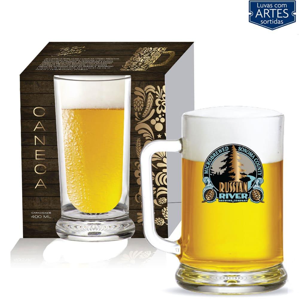 Caneca de Vidro para Cerveja Chopp Star de 670ml 01 pç 01 pç QE