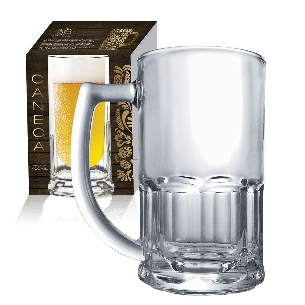 Caneca de Vidro para Cerveja Chopp Tudor 340ml 01 pç