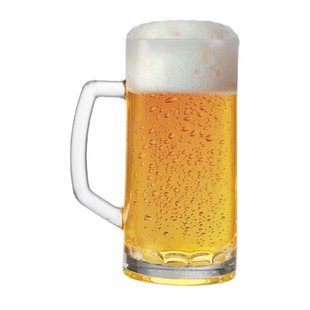 Caneca de Chopp de Vidro Cerveja Berna Canelada M 635ml