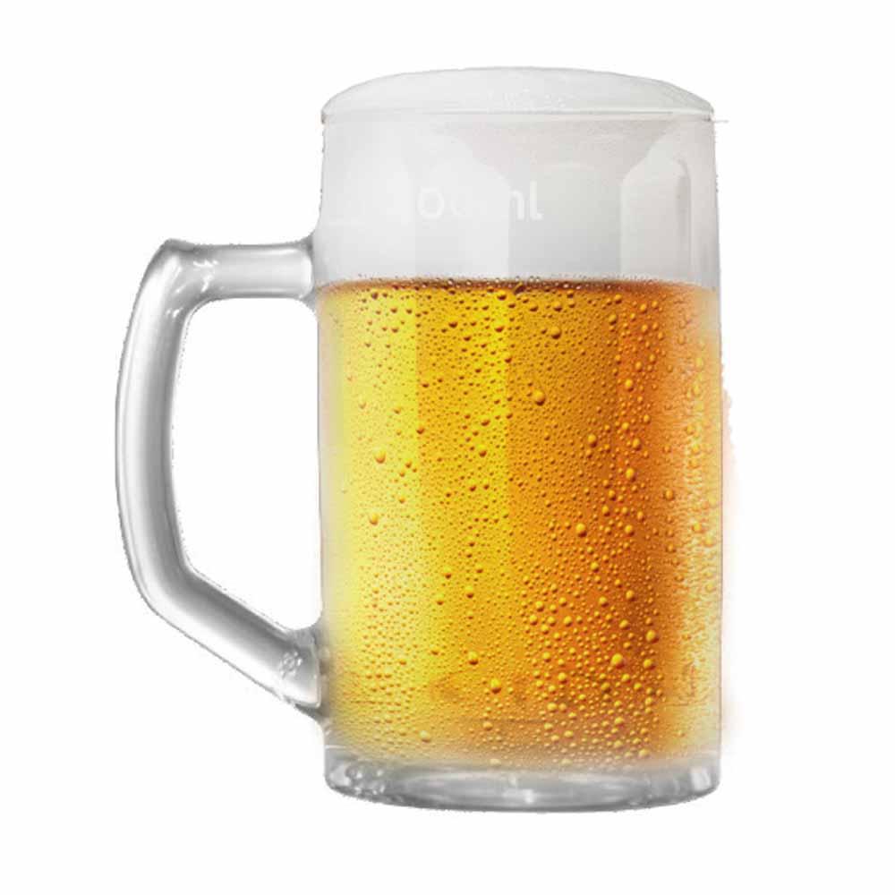 Caneca de Chopp de Vidro Cerveja Brema G Canelada 500ml