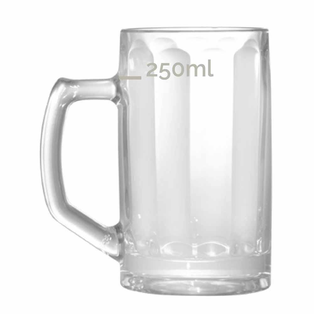Caneca de Chopp de Vidro Cerveja Brema M Canelada 350ml