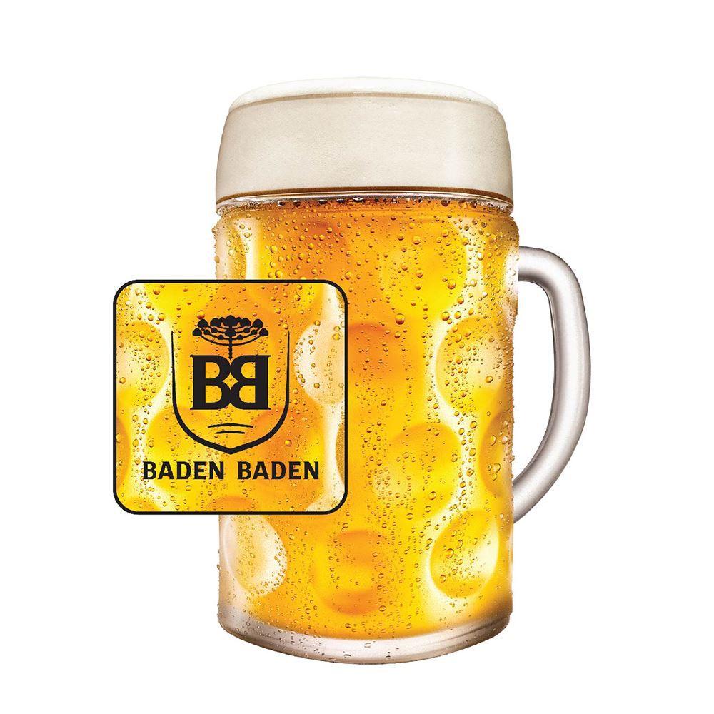 Caneca para Chopp de Vidro Baden Baden 500ml 610ml