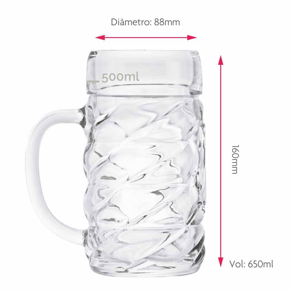 Caneca para Chopp Diamond M Vidro 650ml