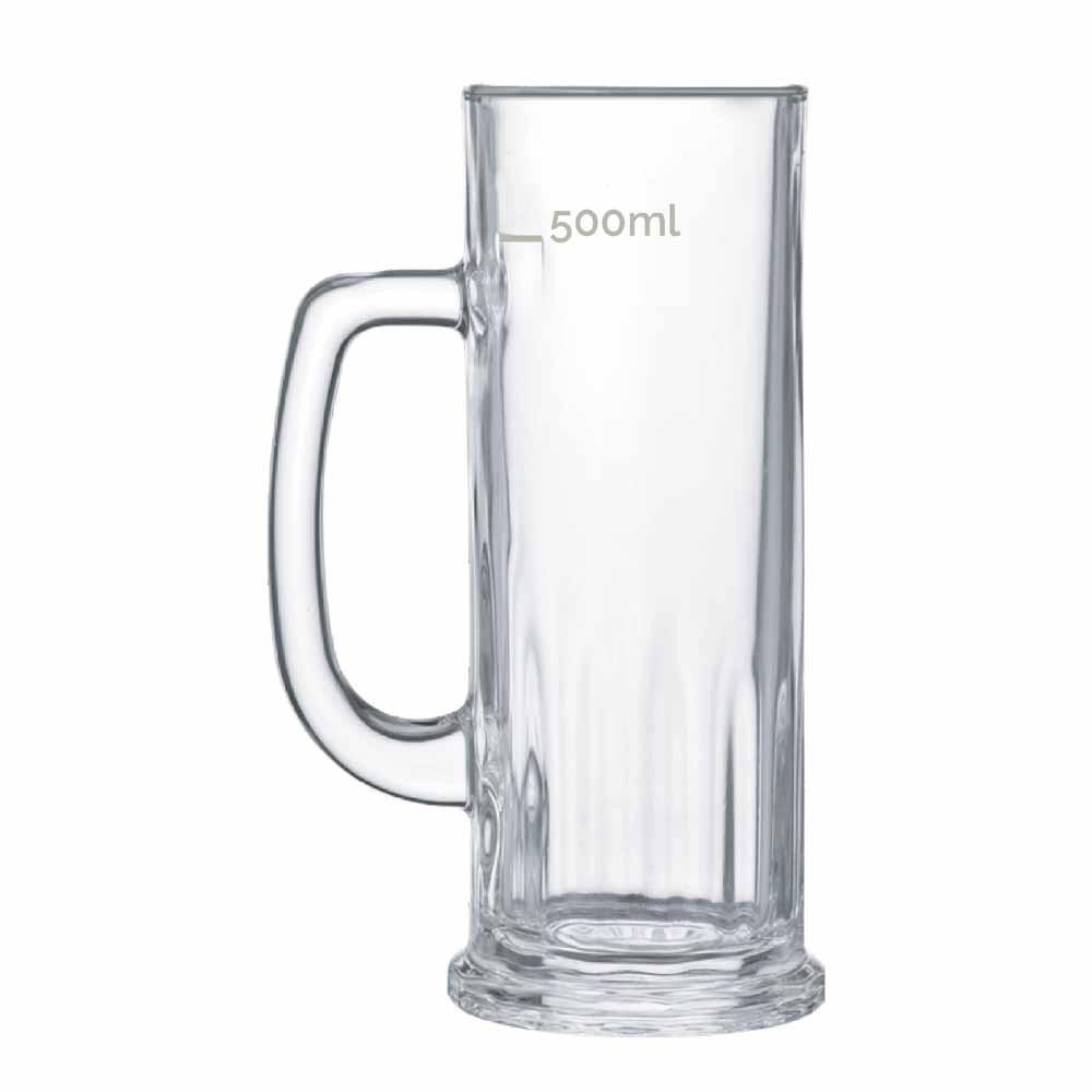 Caneca de Chopp de Vidro Cerveja Europa M 620ml