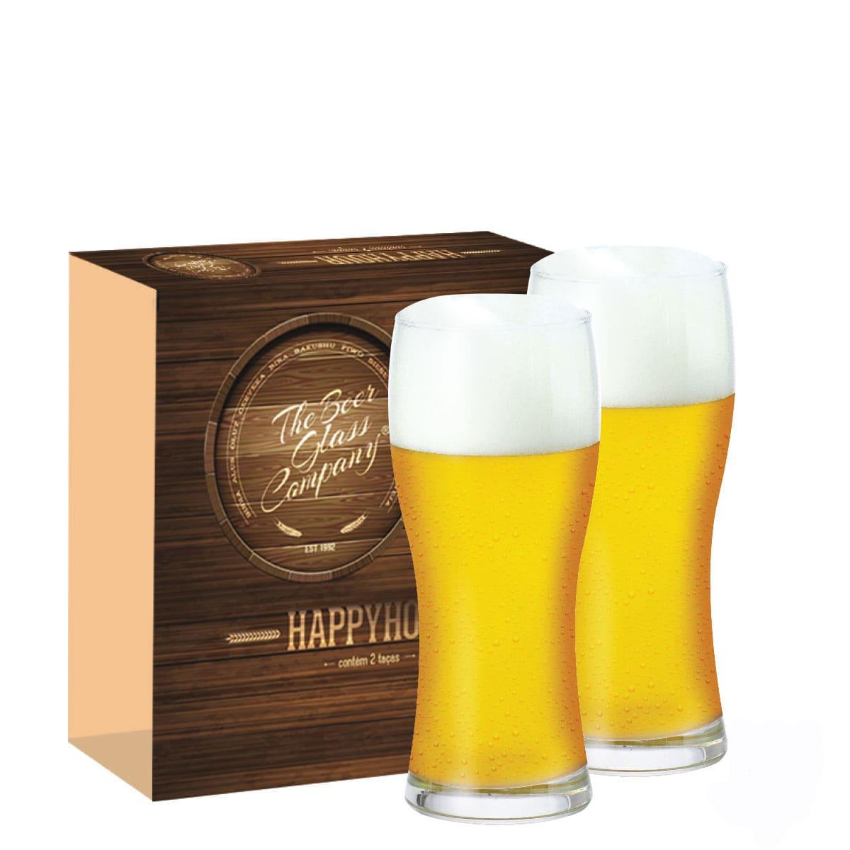 Conjunto de Copo de Vidro para Cerveja Praga de 600ml 02 pçs