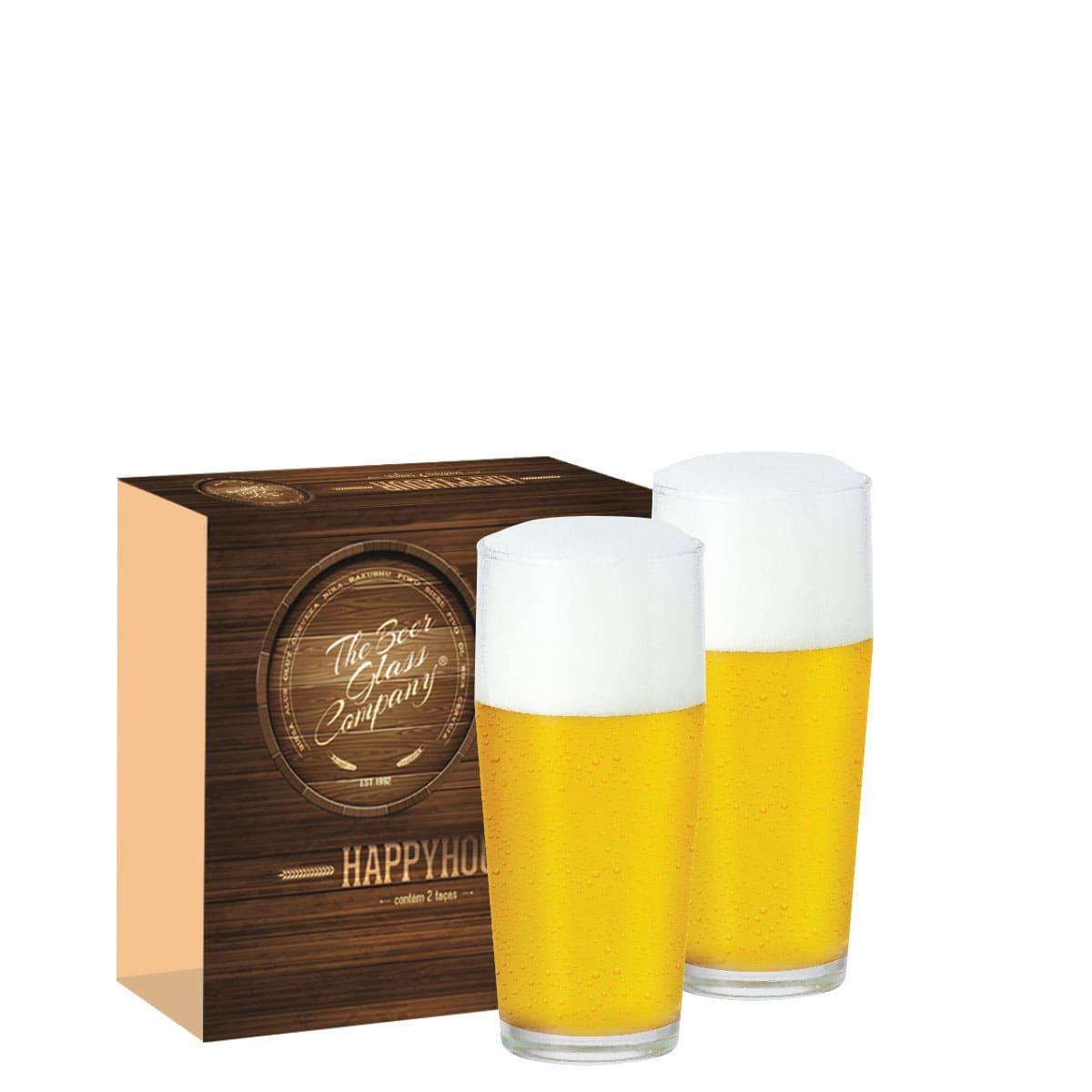 Conjunto de Copo de Vidro para Cerveja Willy de 300ml 02 pçs
