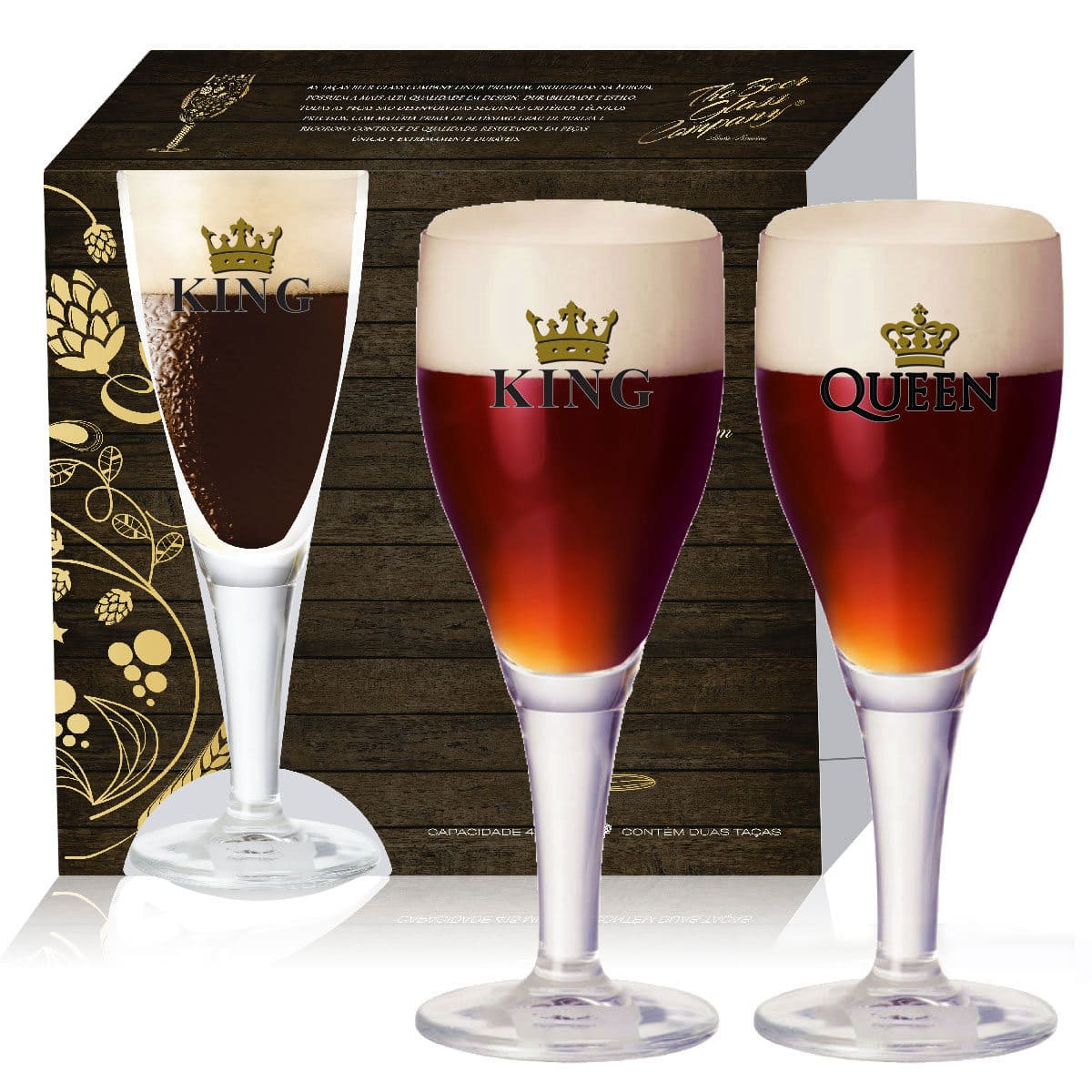 Conjunto de Taça Cerveja Harzer de 430ml 2 pcs