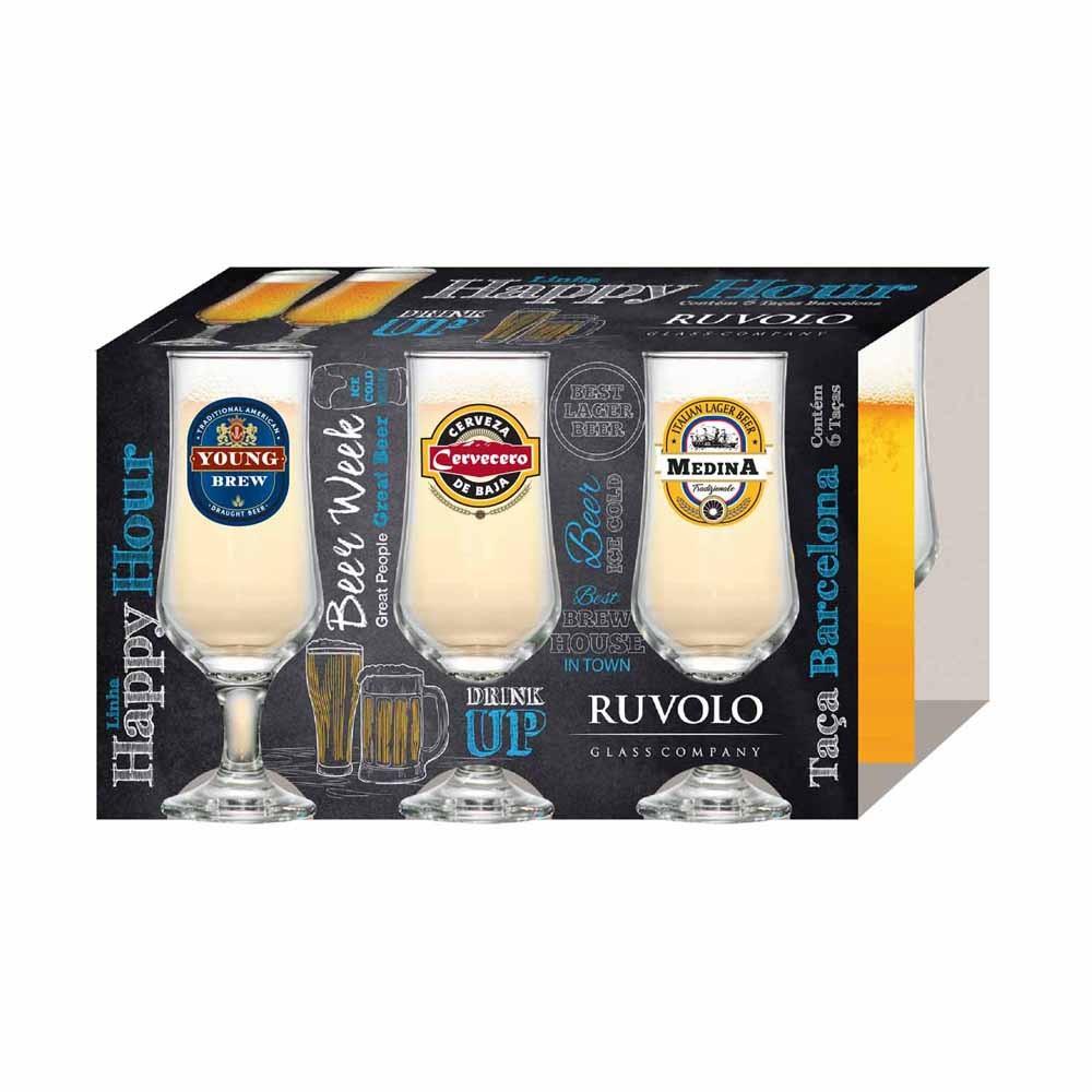 Conjunto De Taça Para Cerveja 370ml QE Ruvolo