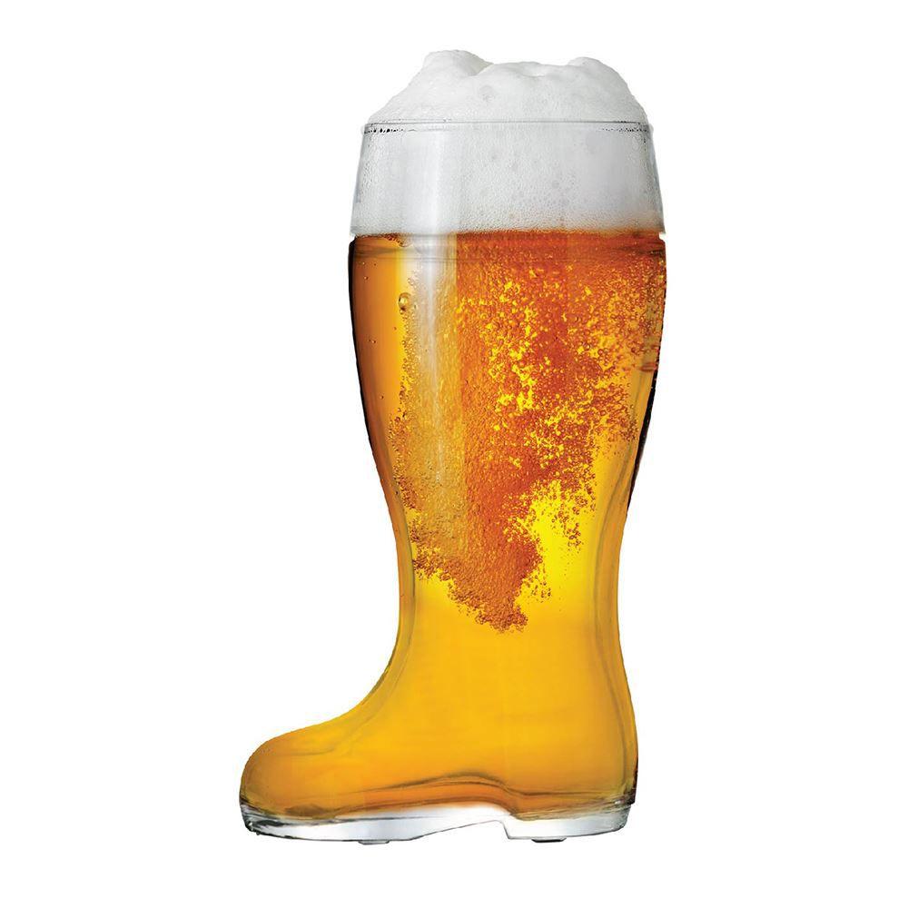 Copo de Cerveja de Vidro Formanto de Bota Stiefel G 1210ml