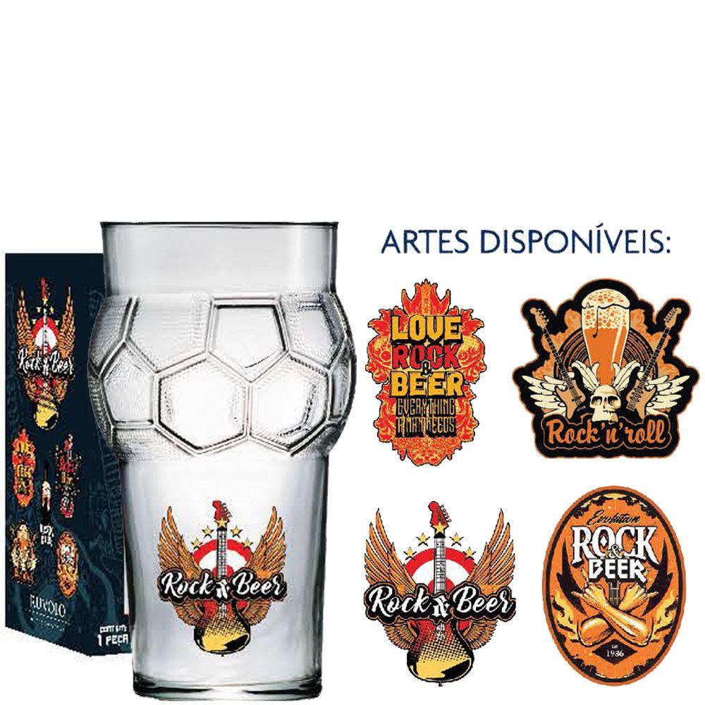 Copo Cerveja de Vidro Futebol Rock Collection 580ml
