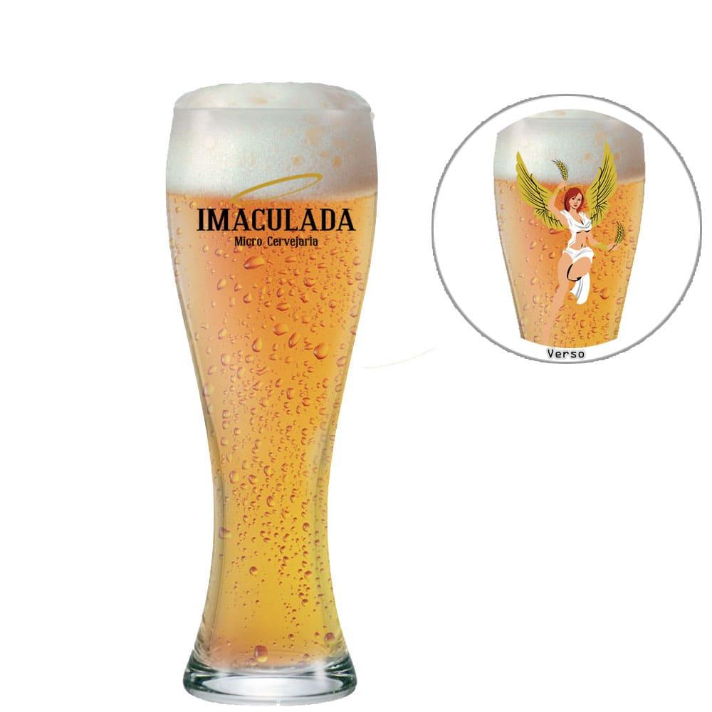Copo de Cerveja Imaculada de Vidro 400ml