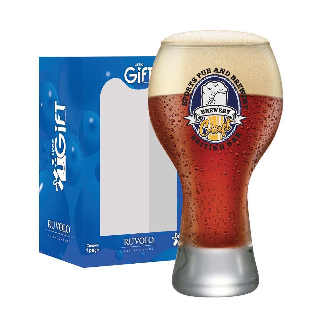 Copo Cerveja Rótulos com Frases Craft Brewery Black M 670ml