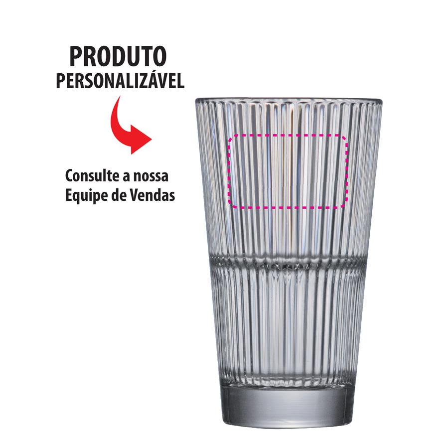Copo de Água e Suco Vidro Multiuso Diva 6pcs