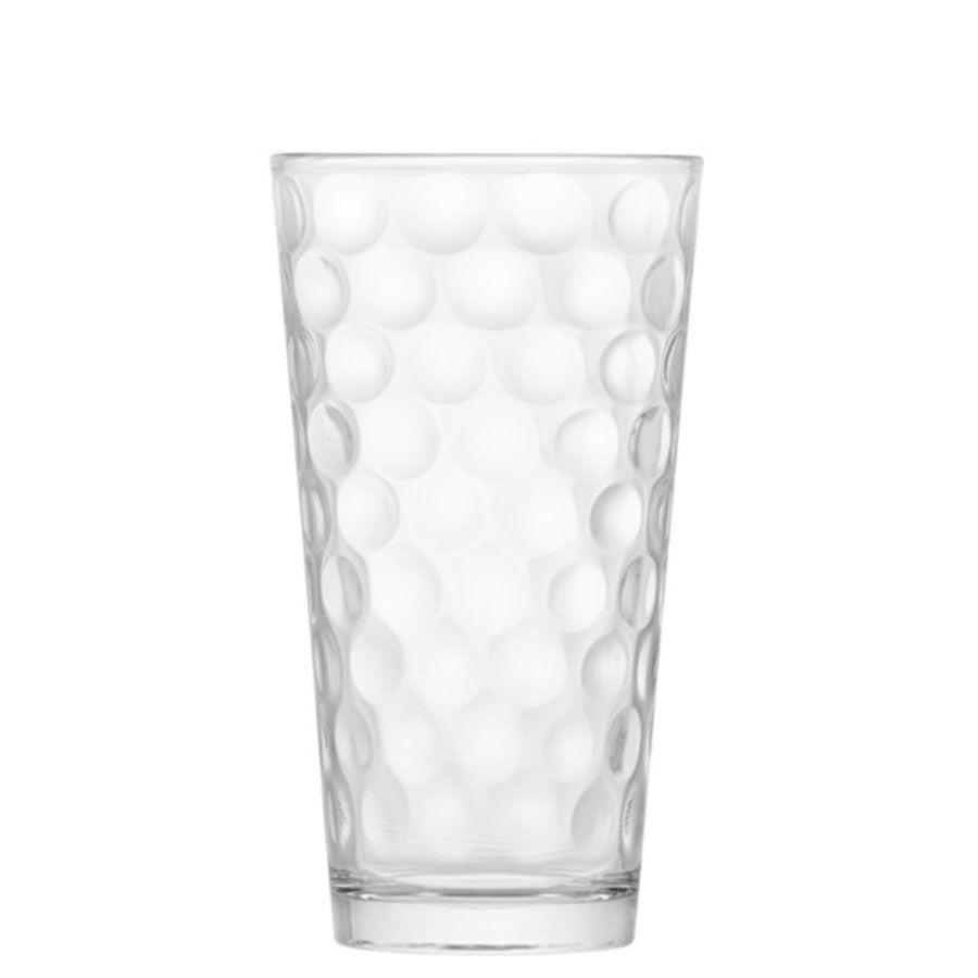 Copo de Água ou Suco Conic Bubbles Vidro 415ml
