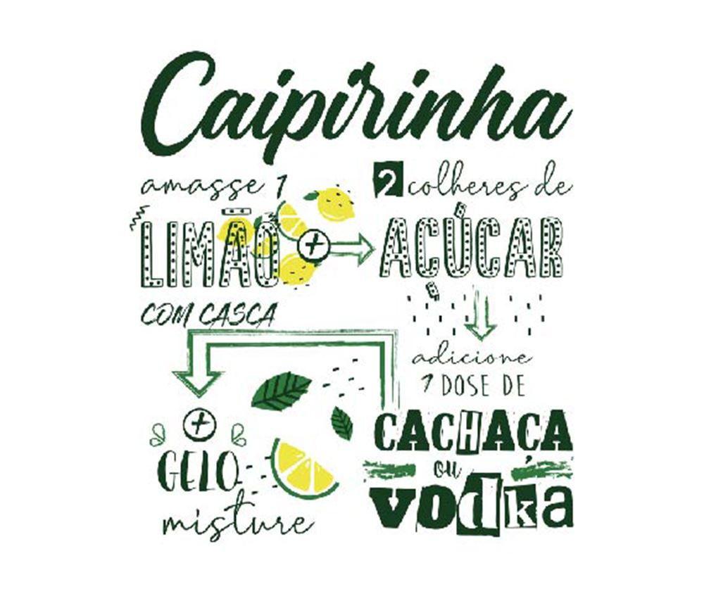 Copo de Caipirinha Frases Legais Limão e Açucar Bowling 340ml