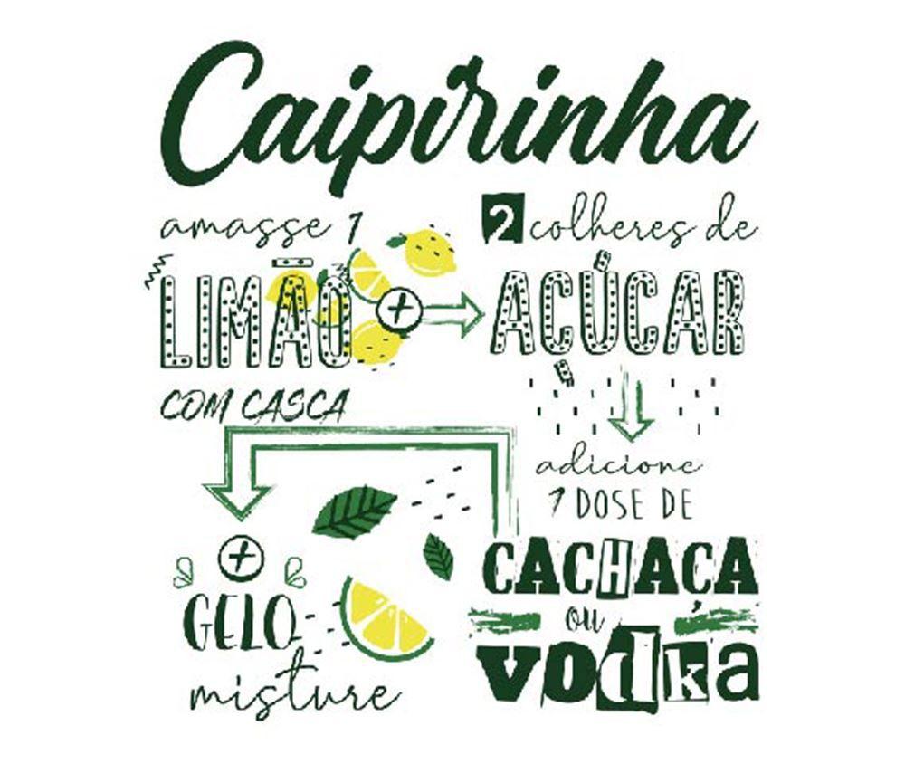 Copo de Caipirinha Frases Legais Limão e Açucar Strange 275ml