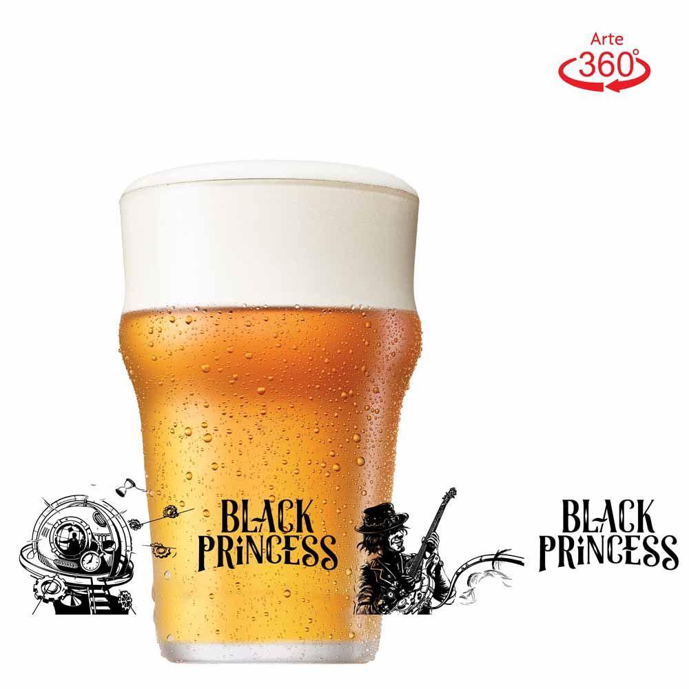 Copo de Cerveja Black Princess Lets Hop Red Cristal 580ml