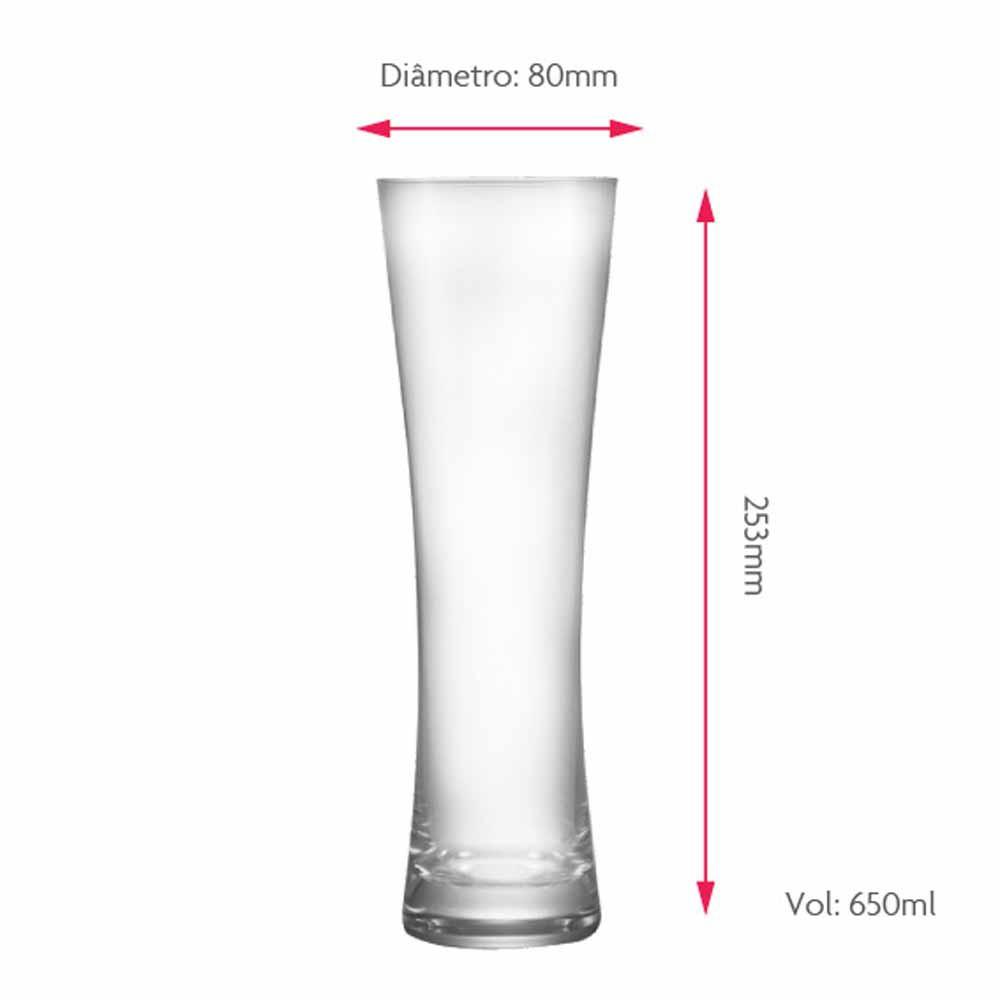 Copo de Cerveja de Cristal Blanc G 650ml