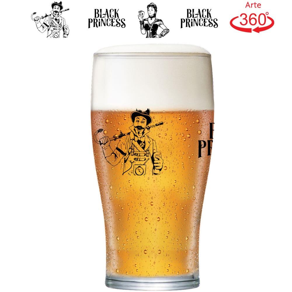 Copo de Cerveja Blond Weiss Black Princess Cristal 568ml