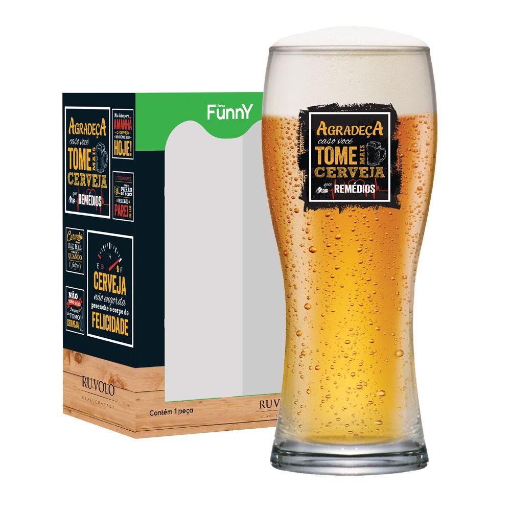 Copo de Cerveja com Frases Engraçadas Agradeça Bavaria 290ml