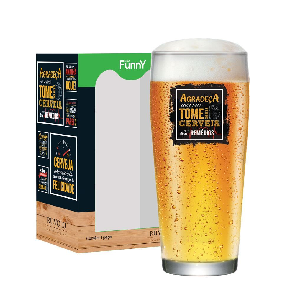 Copo de Cerveja com Frases Engraçadas Agradeça Willy P 310ml