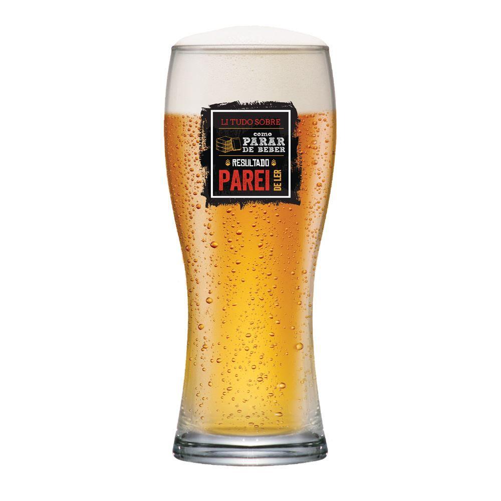 Copo de Cerveja com Frases Legais Li Tudo Bavaria 290ml
