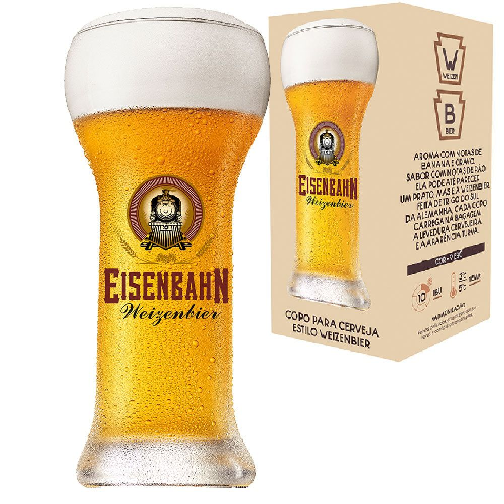 Copo Cerveja Cristal Eisenbahn Weizenbier 480ml