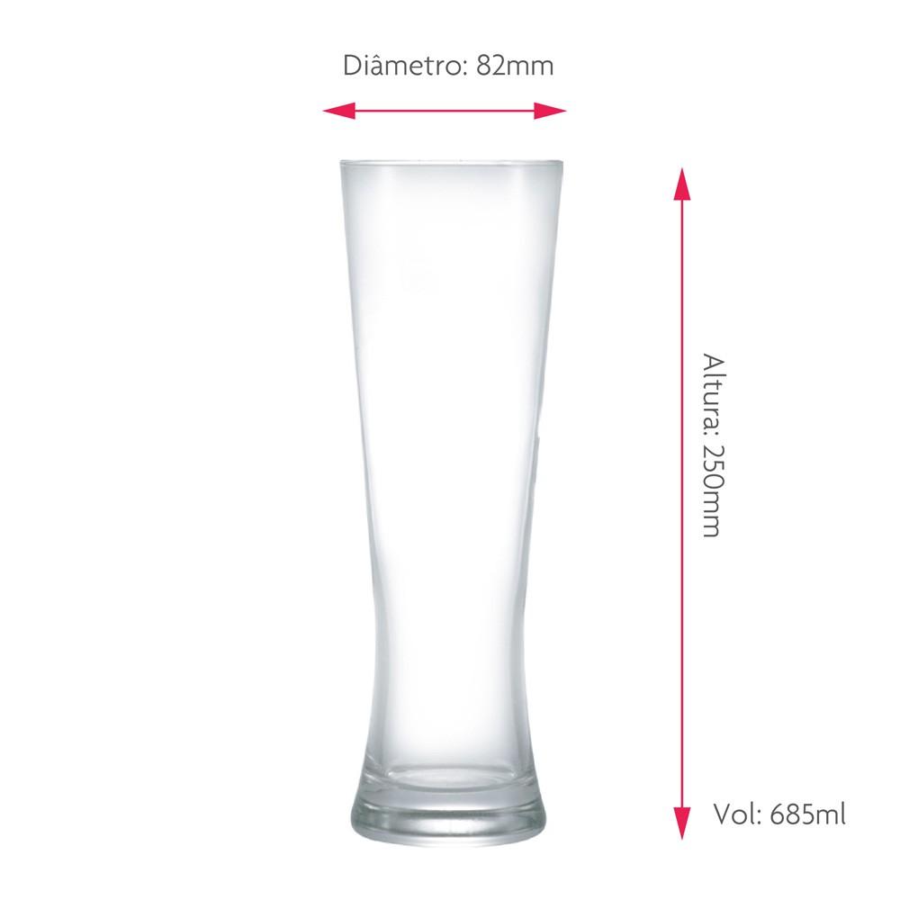 Copo de Cerveja Dado Bier Weiss Cristal 685ml