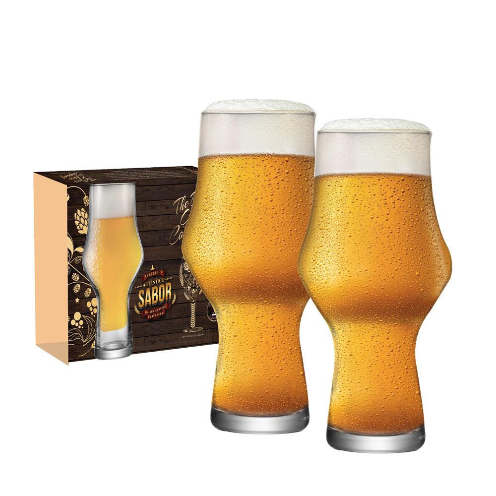 Copo de Cerveja de Cristal Craft Beer 495ml 2 Pcs