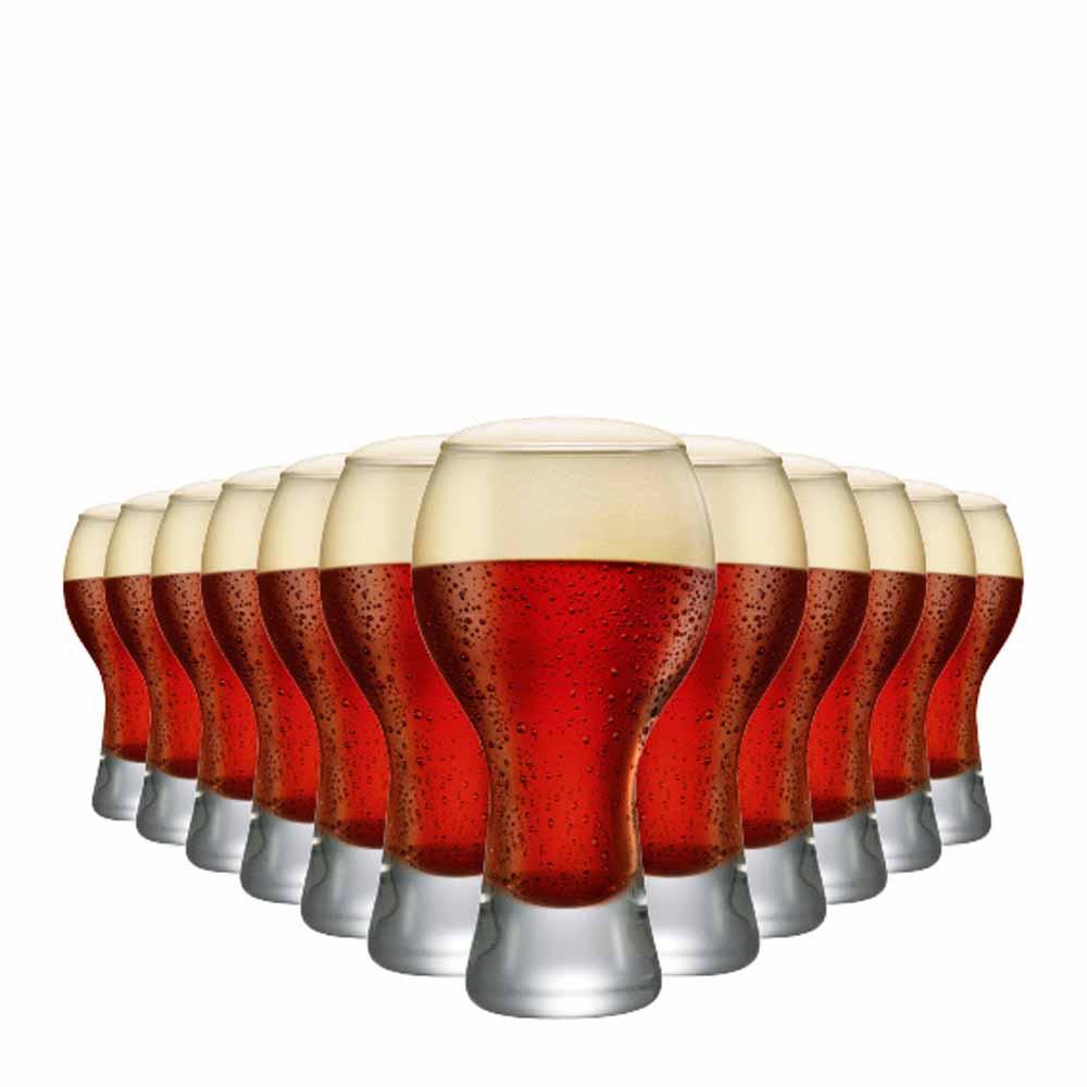Copo de Cerveja de Vidro Black P 380ml 12 Pcs