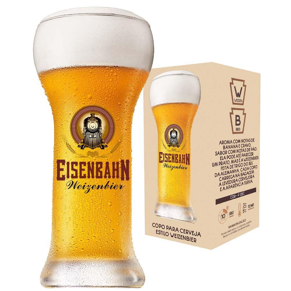 Copo de Cerveja Eisenbahn Cristal Weizenbier 480ml