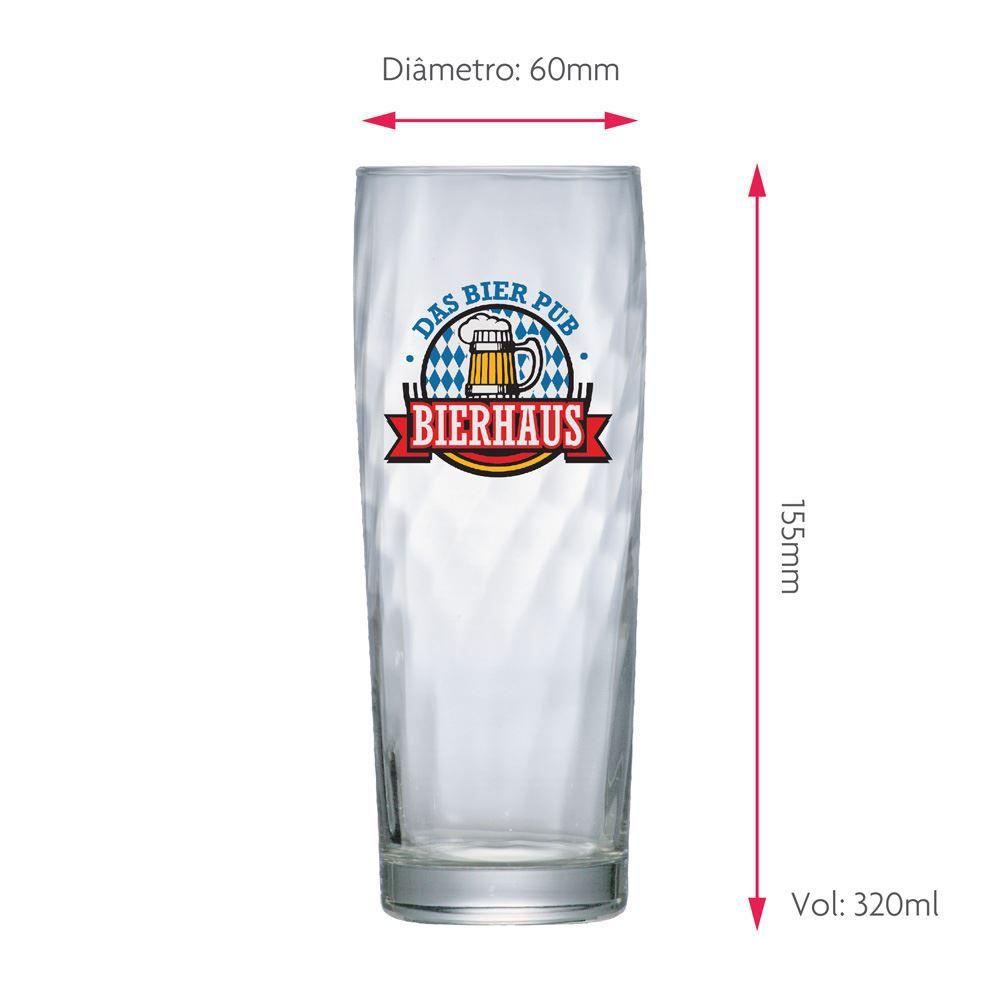 Copo de Cerveja Frases Boteco de Vidro Bierhaus Zurich 320ml