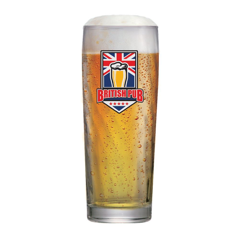 Copo de Cerveja Frases Boteco de Vidro British Zurich 320ml