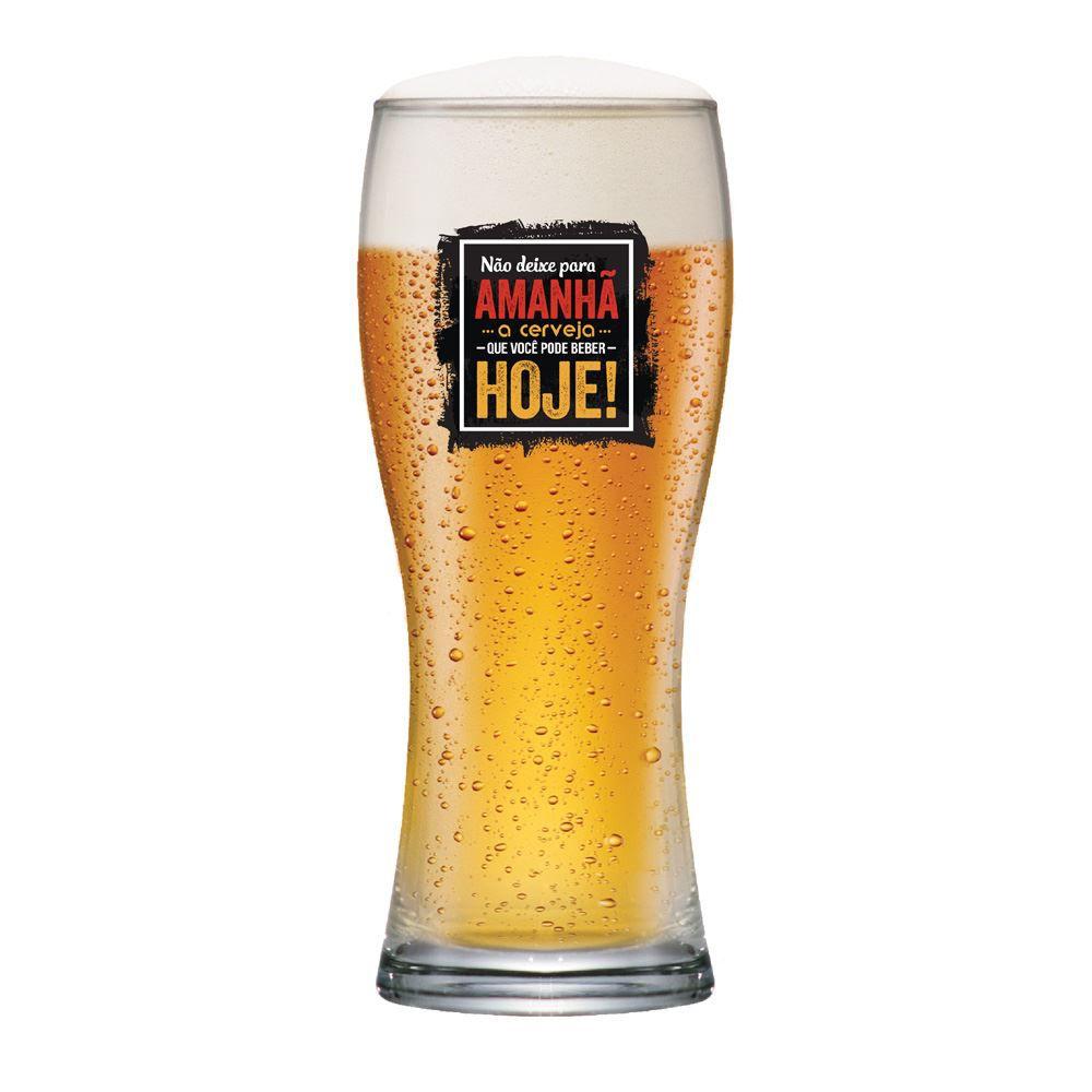 Copo de Cerveja Frases Cerveja Não Deixe Bavaria 290ml