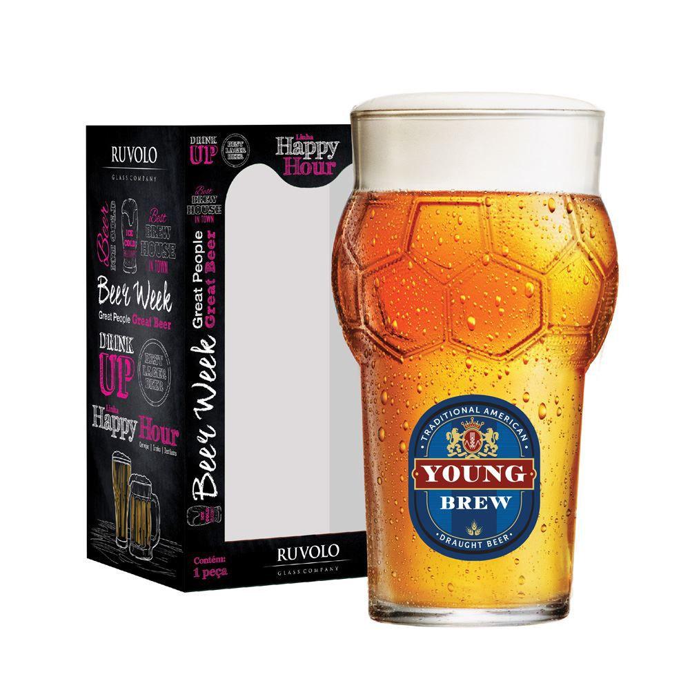 Copo de Cerveja Frases Cerveja Rótulos Young Futebol 580ml