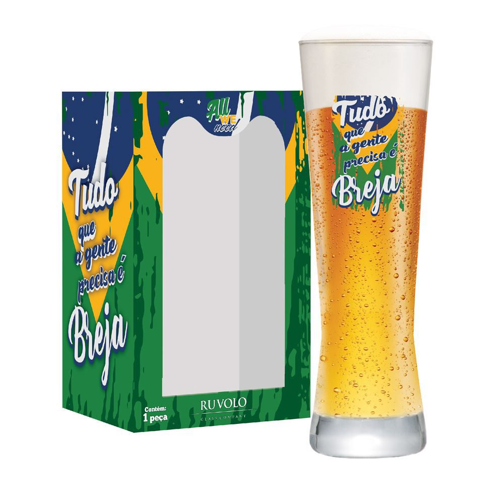 Copo de Cerveja Frases de Boteco All We Need Tudo Polite 280ml