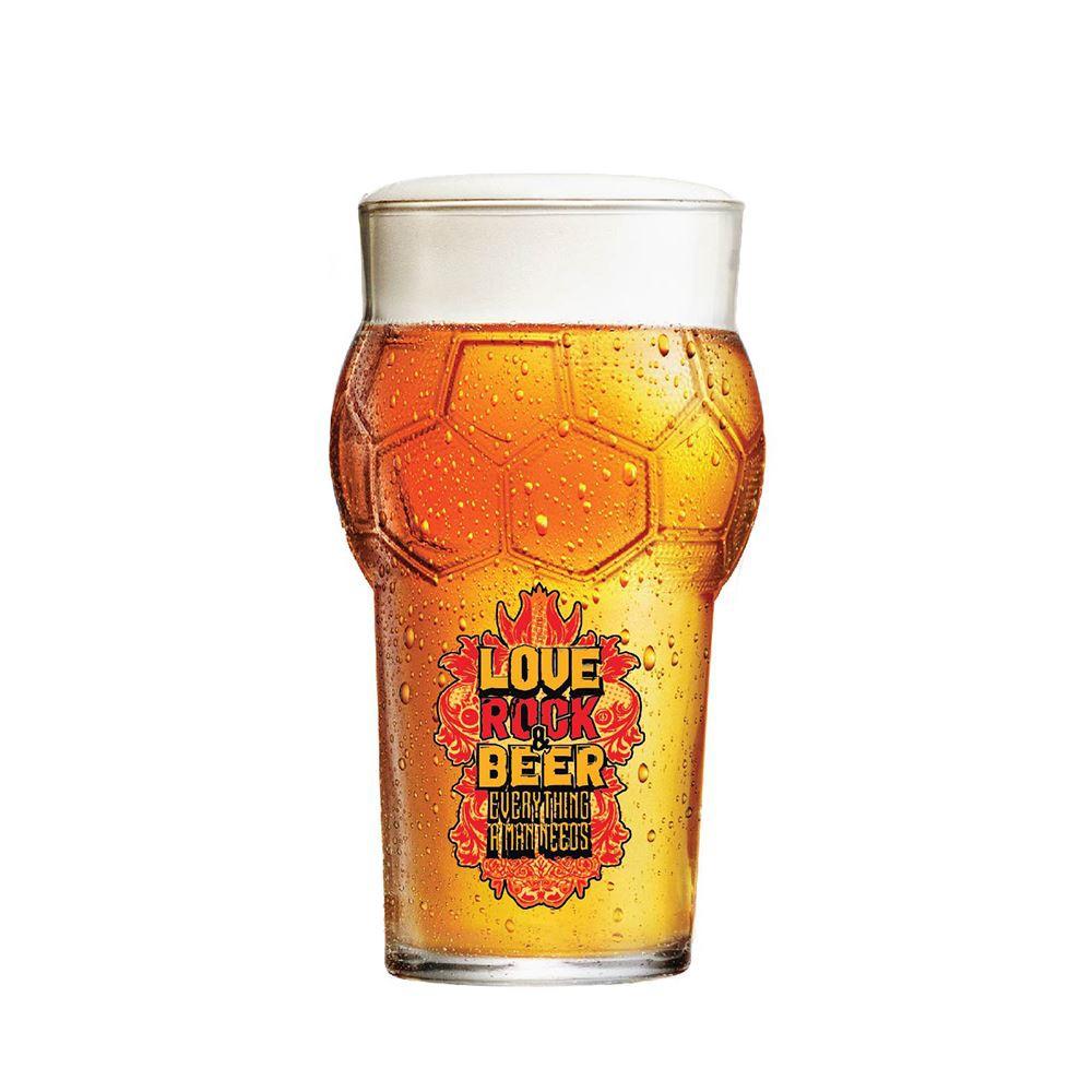 Copo de Cerveja Frases Rock Coll. Love Rock Futebol 580ml